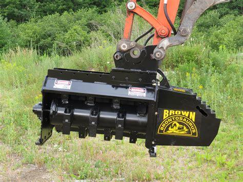 brownbrontocom forestry mowers  stump grinders  excavators mini excavators