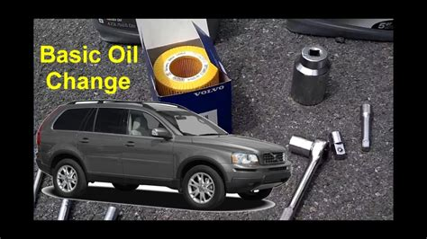 volvo xc basic oil change auto repair series youtube