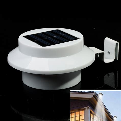 high quality outdoor led solar powered fence light garden