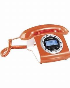 Telephone Filaire Retro : t l phone fixe filaire look r tro moderne avec cran et ~ Teatrodelosmanantiales.com Idées de Décoration