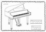 Keyboard Musical Coloring Trace Contains Instrument Teacherspayteachers Form Pdf Early Lessons sketch template