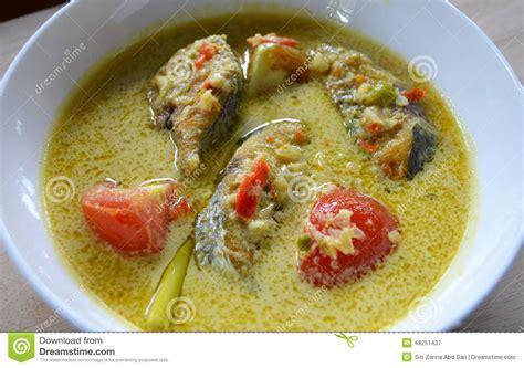 api cuisine cuisine masak lemak cili api ikan tenggiri stock