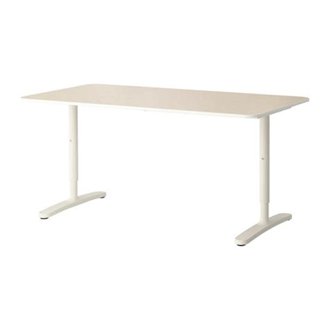 table bureau ikea bekant desk birch veneer white ikea