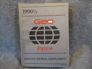 1990 1  2 Geo Prizm Service Manual Supplement Guide St373