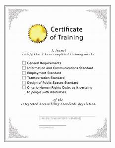 Blank sample certificate of training free download for Blank training certificate