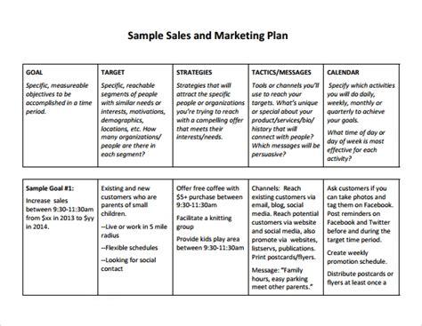 sales plan template peerpex