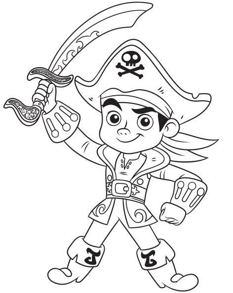 dibujos de capitan jake pirata  amigos  colorear mi barquito