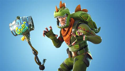 fortnite   guided missile launcher adds dino outfit