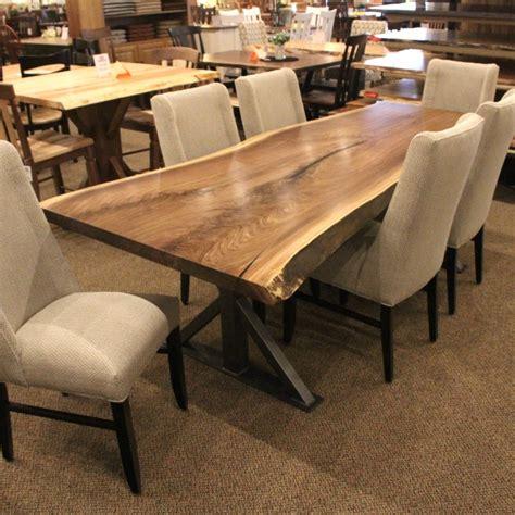 walnut  edge slab table set  edge walnut slab