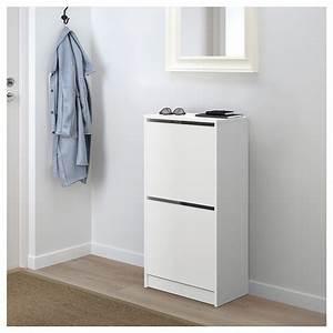 Casier A Chaussure : bissa armoire chaussures 2 casiers blanc 49 x 93 cm ikea ~ Nature-et-papiers.com Idées de Décoration