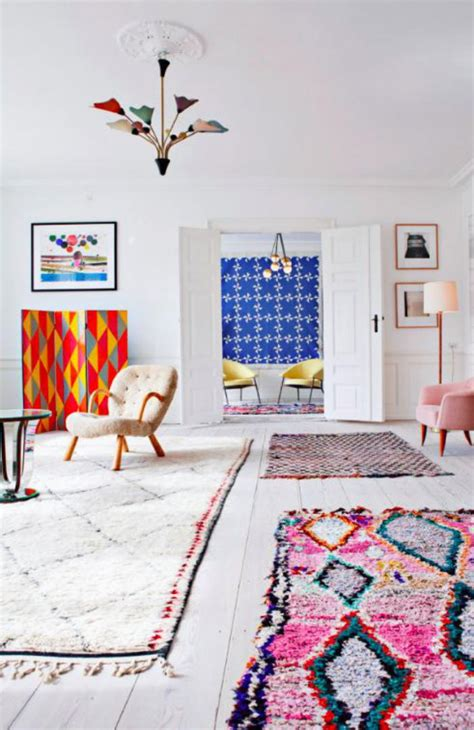ambiance berbere la folie du tapis marocain
