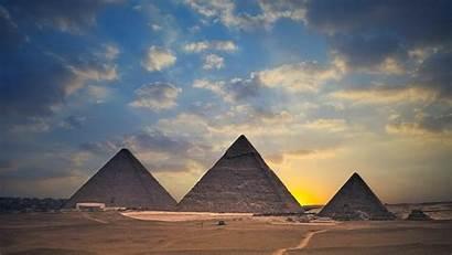 Egypt Pyramids Wallpapers Pyramid Giza Landscape Desert