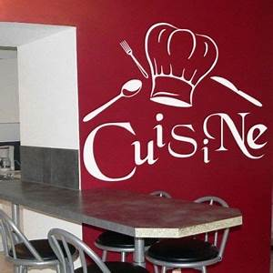 sticker pour cuisine stickers pour cuisine ref murcui With dessin de belle maison 8 citation de la bonne cuisine stickers muraux decoration de