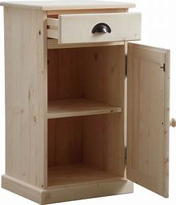 Petit Meuble A Tiroir : confiturier en bois brut 1 tiroir 1 porte ~ Teatrodelosmanantiales.com Idées de Décoration