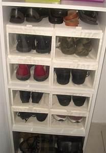 Boite A Chaussure Transparente : mes nouvelles boites chaussures dans mon dressing il ~ Teatrodelosmanantiales.com Idées de Décoration