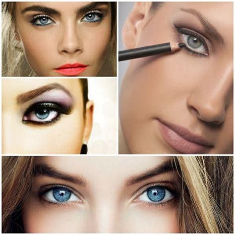 leichte schminke augen make up blaue augen perfekt schminken