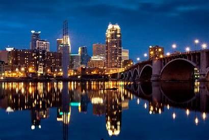 Minneapolis Minnesota Host Games Cool Skyline Night