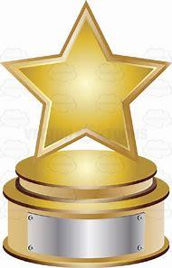 Gold Star Trophy Clip Art