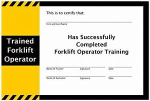 Forklift training training program safety jobs for Forklift licence template