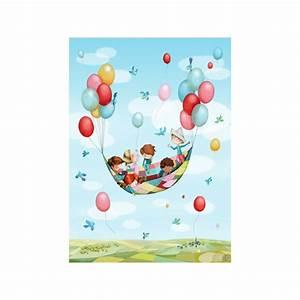 stickers fresque quotdans les airsquot stickers ciel et espace With affiche chambre bébé avec pot de fleur moderne