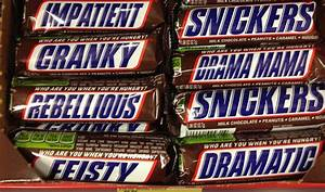 Image Gallery Snickers Cranky