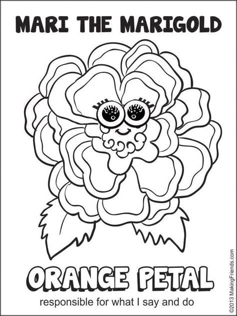 orange petal mari  marigold makingfriendsmakingfriends