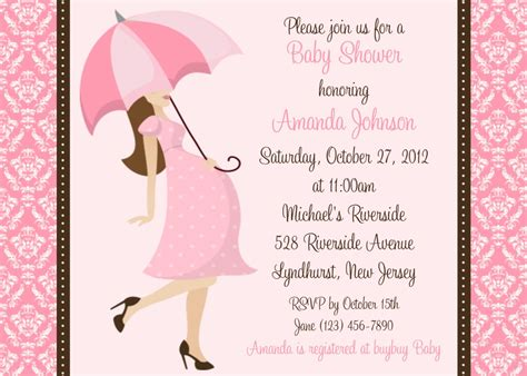 damask baby shower girl invitation personalized custom girl