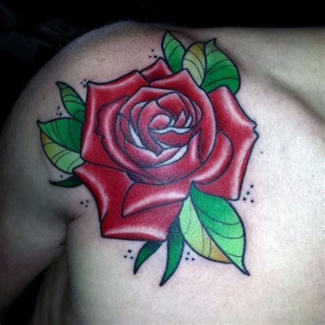 traditional rose tattoo designs  men flower ink ideas