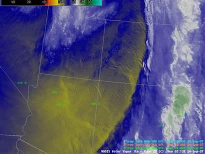 Water Vapor Mountain Waves Satellite Animated Turbulence