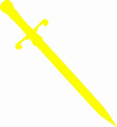 Sword Silhouette Dagger Clip Yellow Clipart Master