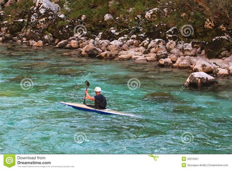 Paddle Boats River Torrens Prices by Kayaking On The Soca River Slovenia Editorial Photo