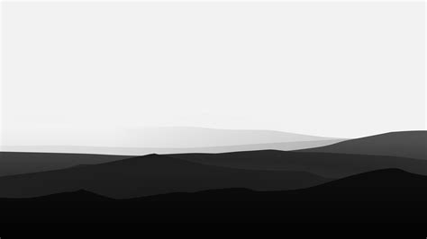 Minimalist Mountains Black And White, Hd Artist, 4k Wallpapers, Images, Backgrounds, Photos And