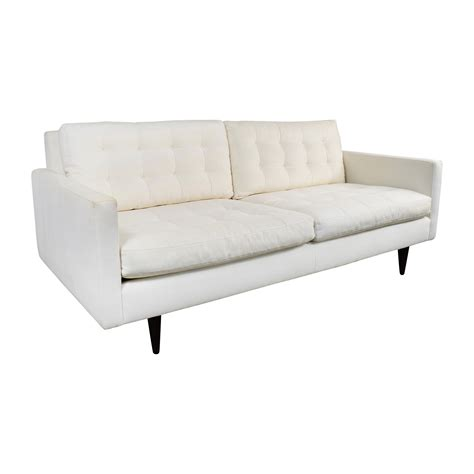 crate and barrel sofas and loveseats 73 off crate and barrel crate barrel white twill
