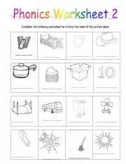 worksheets for kindergarten three letter words phonics