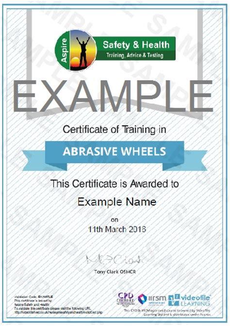 abrasive wheels training risk assessment training