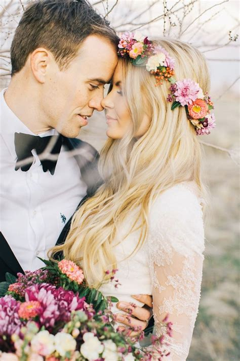 Beautiful Wedding Hair And The Flower Crown