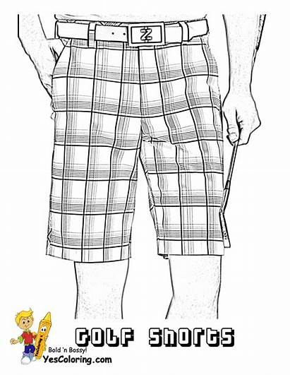 Coloring Golf Shorts Pages Ball Yescoloring Gusto