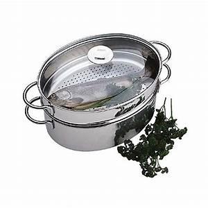 Cuit Vapeur Inox : cuit vapeur ovale complet inox cristel la carpe ~ Melissatoandfro.com Idées de Décoration
