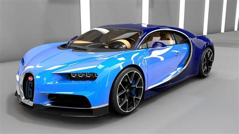 3d models for games, architecture, videos. chiron Bugatti Chiron 2017 3D model | CGTrader