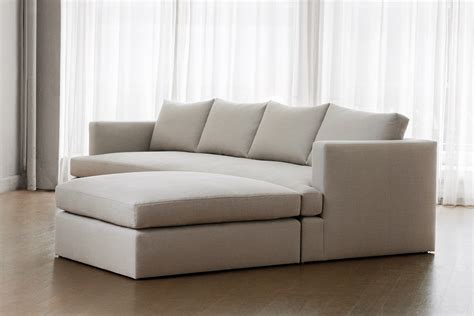 Chelsea Square Sofa With Ottoman  Transitional Mid