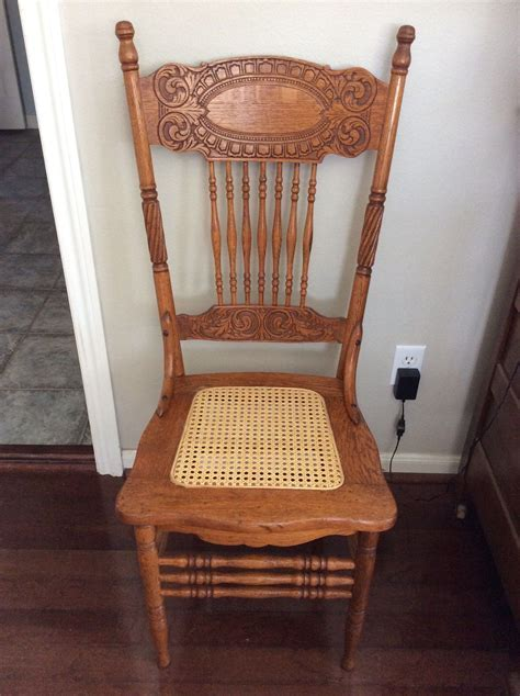 Antique Oak Larkin #1 Pressed Back Chairs Circa 1900 Cane