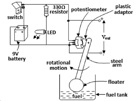 Elgin Wiring Schematic by Circuit Layout Of A Fuel Level Sensor