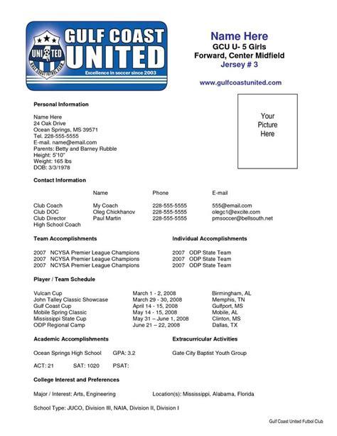 sample soccer resume places  visit pinterest