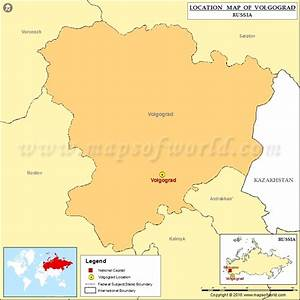 Where is Volgograd | Location of Volgograd in Russia Map