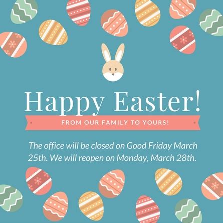 office will be closed sign template 23 images of easter template for office closure