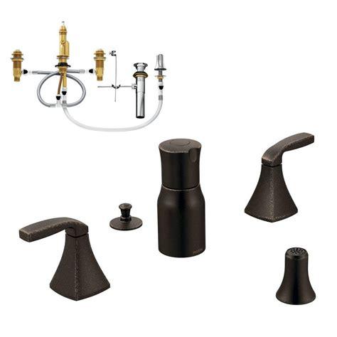 moen voss 2 handle bidet faucet trim kit with valve in oil