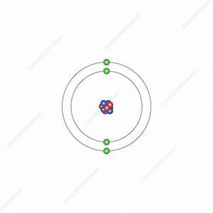 Beryllium  Atomic Structure - Stock Image - C013  1498