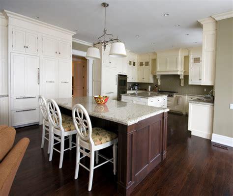 striking white kitchens  dark wood floors pictures