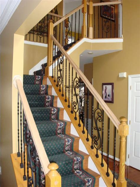 stair railing baluster replacement mitre contracting