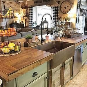 20, Cute, Farmhouse, Kitchen, Remodel, Ideas